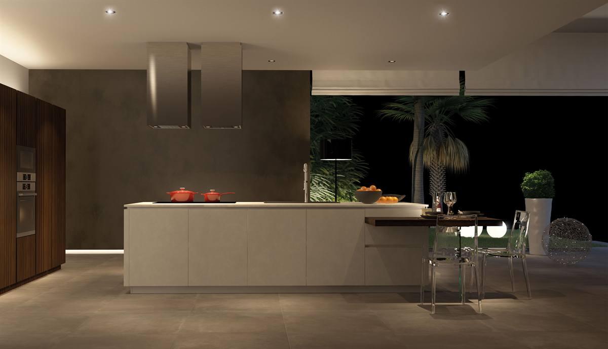 Salone E Cucina Unico Ambiente Moderno: Arredamento soggiorno ...